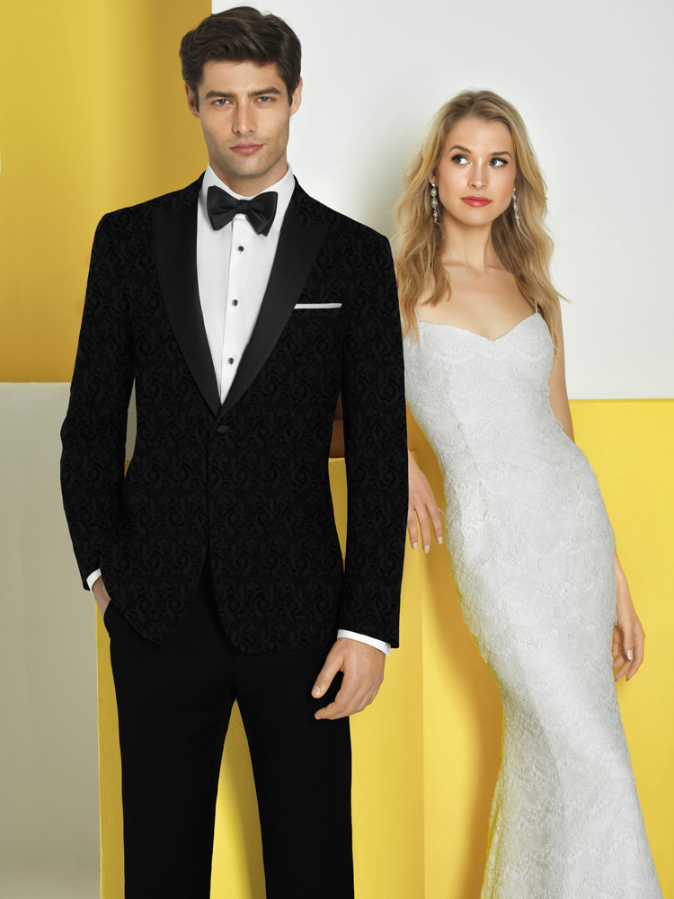 Woman In White, Man In Black Tux